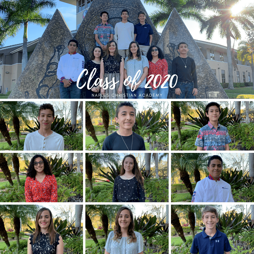 Class of 2020 graduates of Naples Christian Academy